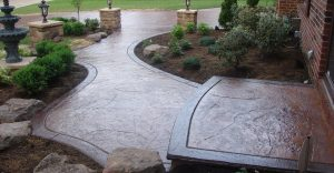 Decorative concrete flatwork installation in Winter Park, Florida